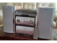 Sony Mini Hi Fi System MHC-WZ50, Radio, Turntable, CD Player, Twin Cassettes and Remote Control