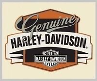 Harley Davidson Genuine With Banner Embossed Tin Sign (New)