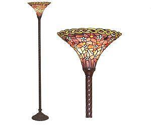 Vintage Torchiere Floor Lamp