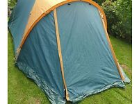 4 man tent with porch - all inclusive
