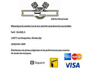 MÉCANIQUE DE SCOOTER À MIRABEL SORTIE 31 AUT.15