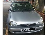 Vauxhall Corsa B 1.0 N/S Front Eing In Silver Breaking For Parts (2000)
