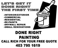 Done Right Painting! Free Quotes!