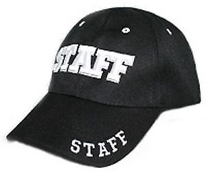 Staff 3D Embroidered Baseball Cap Hat MP:25