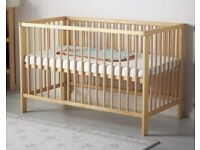 Cot/Bed -' Ikea Gulliver' used but in near perfect condition, with mattress