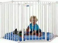 Lindham safe and secure playpen white with floor mat