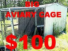"""CAGE AVIARY - BIG -METAL & MESH ROOF  $100 """"AS IS"""" Logan Reserve Logan Area Preview"""