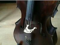 4/4 stradivari copy hand made cello and bow with new thick padded case