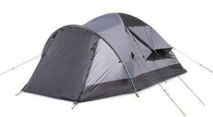 3-person tent with two entries and a front awning