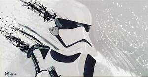 Stormtrooper original abstract painting