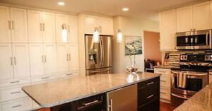Custom Kitchen Cabinets and Quartz Countertops
