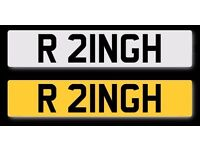 Private Number Plate - R 21NGH