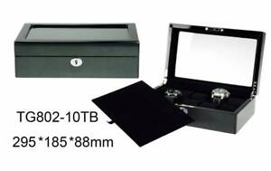 Kingsley wooden watch box carbon fibre for men display storage Auburn Auburn Area Preview