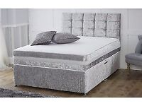 Crushed velvet Divan Beds For Sale