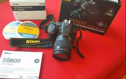 Nikon D5600 with Sigma 18-200mm DC Macro Lens