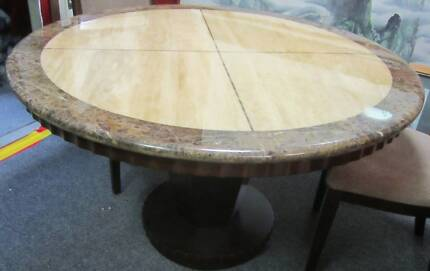 MARBLE/ STONE DINING TABLE WITH 6 CHAIRS   Dining Tables   Gumtree  Australia Gold Coast North   Upper Coomera   1163869936