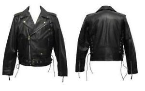 Men's Buffalo Hide Leather Motorcycle Jacket