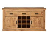 Clifton Large Wine Rack Sideboard- Height 73, Width 140, Depth 43 cm- RUSTIC OAK
