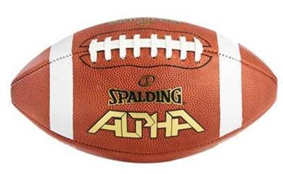 Spalding Alpha Official Full Size Leather Football NFHS Approved