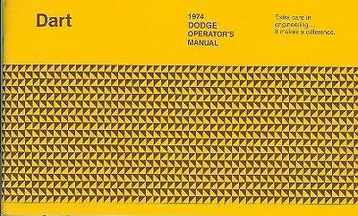 1974 74 Dodge Dart Owner's Manual