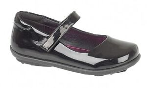 GIRLS KIDS BLACK BACK TO SCHOOL SHOES MARY JANE FORMAL CASUAL PARTY SIZE 6-2