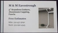 """5"""" seamless eavestrough, gutter, soffit and fascia"""