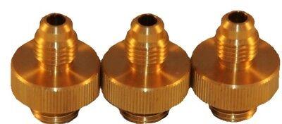 Set Of 3 Brass 14 Brass Backflow Test Fittings