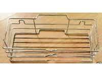 John Lewis Stainless Steel Chrome Look Wireware Rectangular Shower Storage Caddy.