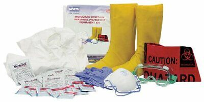 North by Honeywell 130023S Biohazard PPE Kit. Small - Biohazard Respirator Mask