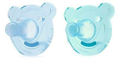 Philips Avent Soothie Pacifier, 0-3 months, Green/Blue, Bear Shape, 2 pack,