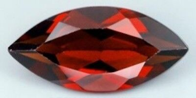 RED GARNET 12 x 6 MM MARQUISE CUT ALL NATURAL