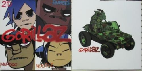 GORILLAZ 2001 CLINT EASTWOOD 2 SIDED PROMO/FLAT 12X12 NEVER DISPLAYED