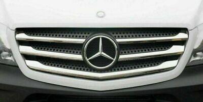 2013-2017 Mercedes Sprinter W906 Chrom Frontgrill Bezüge 5pcs EDELSTAHL