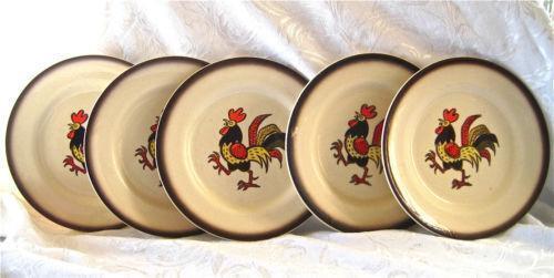 Vintage Rooster Dinnerware Ebay