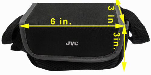 JVC Camcorder Camera Bag Padded Pouch Soft Case Black With S