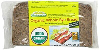 Mestemacher Bread Organic Whole Rye 17.6 Ounce Packages Pack of 12