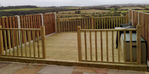 3m x tanalised complete decking kit 1st grade for Tanalised decking boards