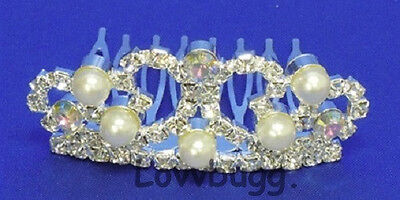"Lovvbugg Doll Tiara with Pearls for 18"" American Girl Doll Accessory"