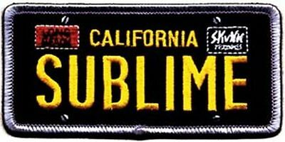 SUBLIME - LICENSE PLATE LOGO - EMBROIDERED PATCH - BRAND NEW - MUSIC BAND 0277