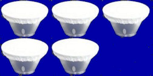 "Five 7"" White Diffuser Sock for Alien bees Alien bee Reflectors  Beauty Dish New"