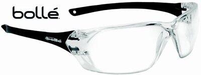 Bolle Prism 40057 Safety Glasses Black Frame Clear Anti-fog Lens