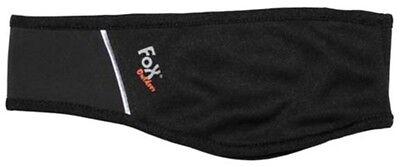 Softshell Stirnband schwarz Schweißband Windstopper Ohrenschutz Kälteschutz FOX