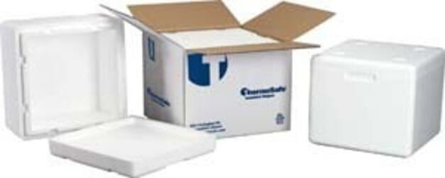 Tegrant Thermosafe ThermoSafe Insulated Shippers, Expanded Polystyrene: 413