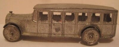 Old 1927 Tootsie Toy Fageol Safety Coach - Long Bus w/ metal wheels