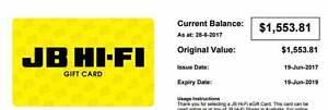JB HI-FI E-Card Gift Voucher $1553.81 Clayton Monash Area Preview