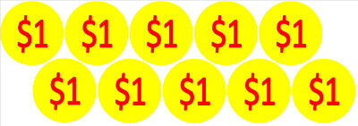 10 Price Stickers Vending Machine Candy Stickers Label 1 Free Shipping