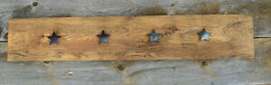 Hand Crafted Rustic Coat Rack with Texas Stars Kingston Kingston Area image 2