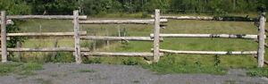 11' to 12' Round Wood FENCE RAILS $5 Each and 8' POSTS $7 Each