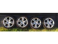 Mille miglia 1000 set of 4 alloy rims 7.5J x 16 H2 Peugeot 306 d turbo wheels