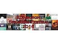Volunteers for book festival 9-11 September Edinburgh - free tickets
